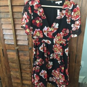 Madewell butterly sleeve floral dress